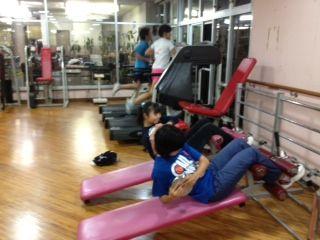 ジュニアチームホールでトレーニング!