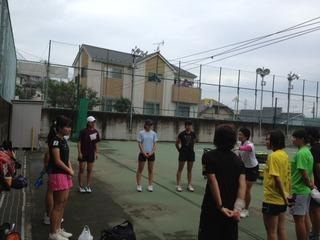 白鵬女子高等学校と練習&練習マッチ!