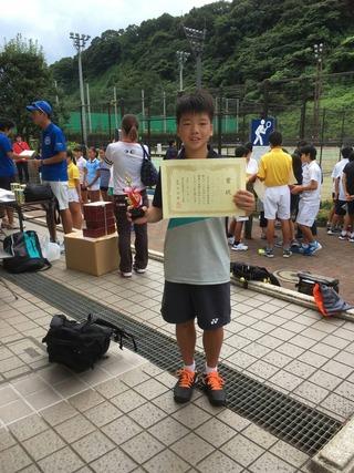 神奈川県中学校新人テニス大会男子シングルス3位入賞