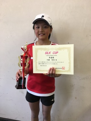 シルクカップジュニアテニストーナメント12歳以下女子結果報告