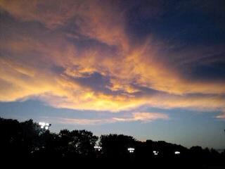 美しい夕焼け。