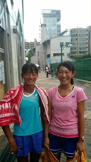 全日本ジュニアテニス選手権大会女子ダブルス準決勝
