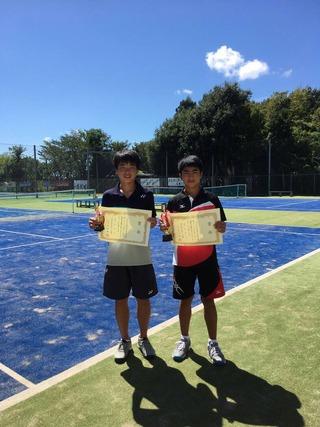 2018年神奈川県中学校新人テニス大会男子シングルス優勝・第3位