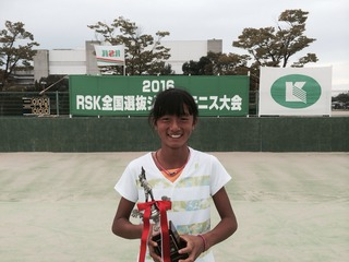 RSK全国選抜ジュニアテニス大会U13女子で松田絵理香が準優勝