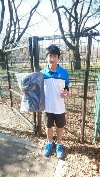 むさしの村ニューイヤージュニアテニストーナメント16歳以下男子シングルス優勝