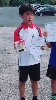 2018 秩父オープンジュニア9月12歳以下男子シングルス準優勝