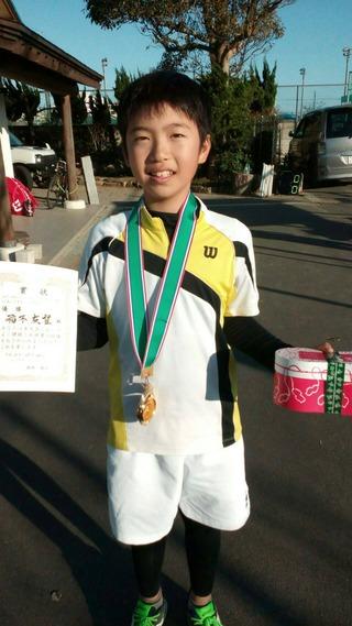 2017千葉白子ジュニアテニストーナメント秋12歳以下男子シングルス優勝