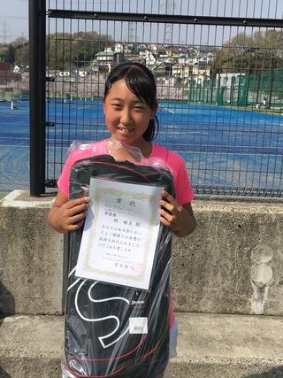 まちだ成瀬ジュニアテニストーナメント3月大会14歳以下女子シングルス準優勝