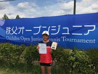 秩父オープンジュニアテニストーナメント14歳以下女子結果報告
