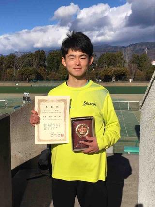 2019山梨ウィンタージュニアテニストーナメント結果報告