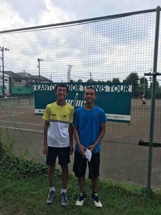 prince関東ジュニアテニスツアー桜田大会18歳以下男子ダブルス第3位