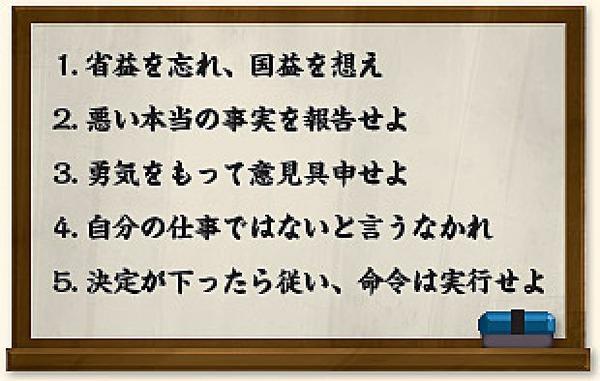 後藤田五訓