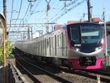 京王電鉄新5000系電車(明大前-下高井戸間にて、'18.01.02撮影)