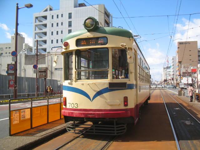 土佐電気鉄道700型電車(堀詰駅 ...