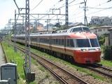 小田急電鉄7000形電車(鶴巻温泉駅にて、'17.05.27撮影)