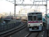 京王電鉄7000系電車(聖蹟桜ヶ丘駅にて、'16.12.09撮影)