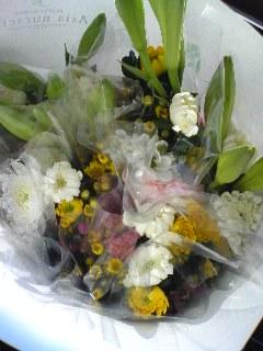 墓参りの花束