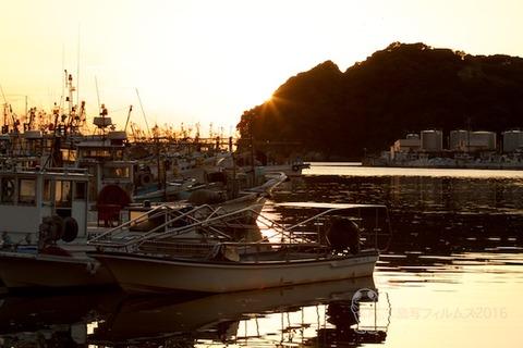 篠島漁港_夕日_漁船_2016-04-05- 005