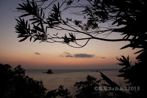 松島の夕日_歌碑公園_2013-02-22 17-54-55