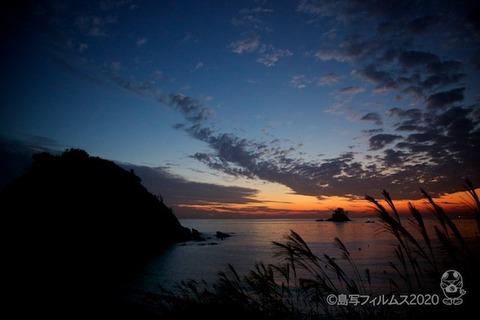 松島の夕日_歌碑公園_2020-11-06_17-22-52