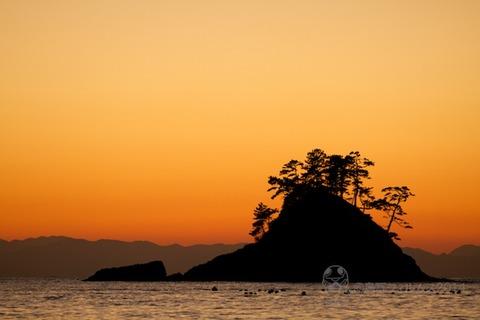 松島の夕日_鯨浜_2014-11-04_17-17-34