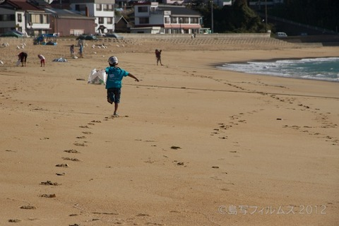 ウミガメ隊_クリーンアップ大作戦_2012-08-26 07-40-45