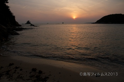 松島の夕日_鯨浜_2013-05-26 18-33-46