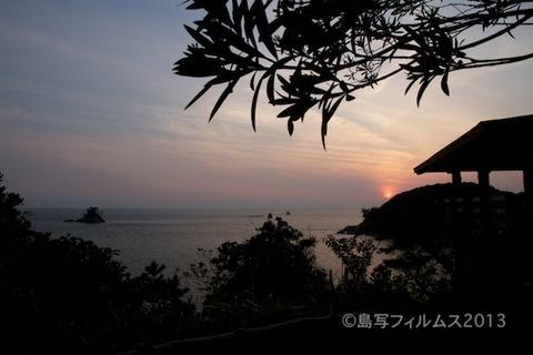松島の夕日_鯨浜_2013-05-26 18-42-27