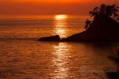 松島の夕日_鯨浜_2014-10-25_16-53-18