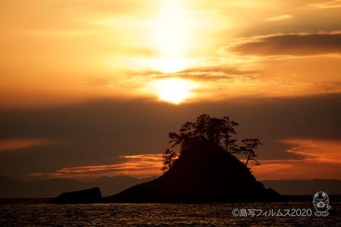 松島の夕日_鯨浜_2020-03-03_17-33-35