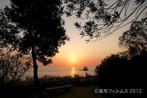 松島の夕日_ 夕陽百選_万葉展望台_2012-11-13 16-24-30