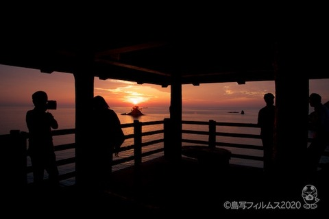 松島の夕日_歌碑公園_2020-11-06_16-44-48