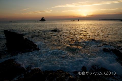 松島の夕日_鯨浜_2013-05-20 18-33-22