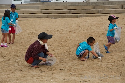 ウミガメ隊_クリーンアップ大作戦_2012-08-29 07-40-34