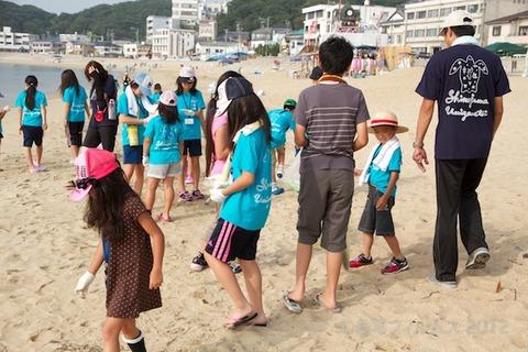 篠島ウミガメ隊クリーンアップ大作戦2012-07-25 07-44-55