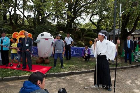 名古屋城篠島矢穴石式典_おもてなし武将隊_2012-09-23 13-29-29