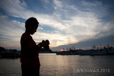 島写_漁港_夕日_篠島_風景_漁船_#Silhouette_2012-07-02 18-45-49
