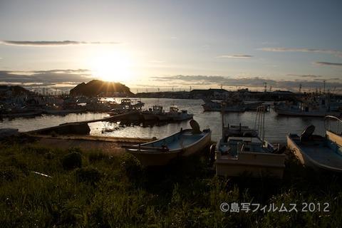 漁港_夕日_篠島_風景_写真_2012-05-03 18-05-46