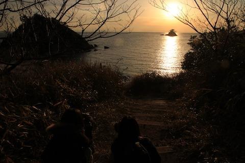 島写_松島の夕日2011-03-05 17-16-58