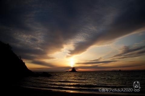 松島の夕日_鯨浜_2020-03-03_17-32-48