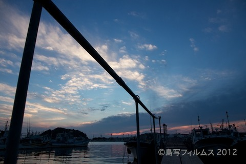 島写_漁港_夕日_篠島_風景_漁船_#Silhouette_2012-07-02 19-01-22
