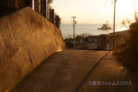 松島の夕日_ 夕陽百選_汐味海岸_2013-01-07 16-22-00