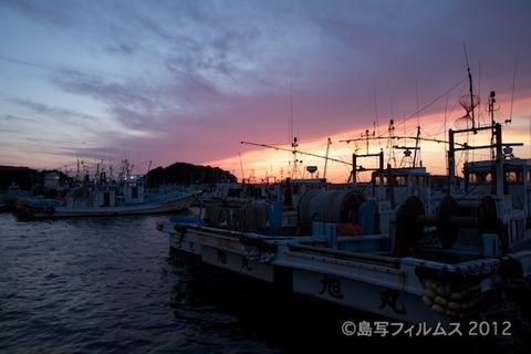 漁港_夕日_篠島_風景_漁船_#Silhouette_2012-06-22 19-07-54