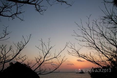 松島の夕日_歌碑公園_2013-02-22 17-32-35