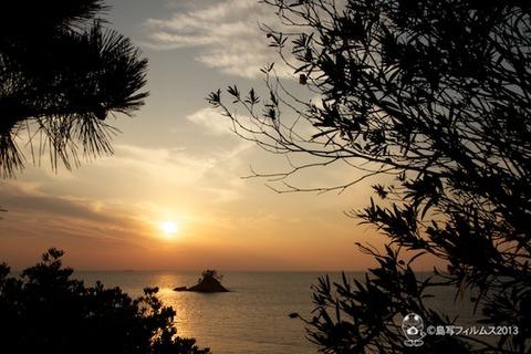 松島の夕日_歌碑公園_2013-11-08 16-24-09
