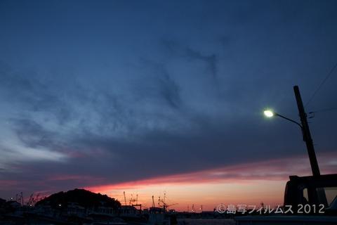 漁港_夕日_篠島_風景_漁船_#Silhouette_2012-06-22 19-16-03
