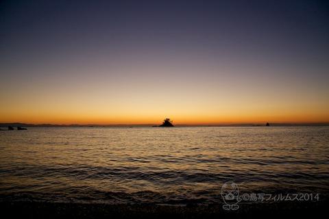 松島の夕日_鯨浜_2014-11-04_17-15-43