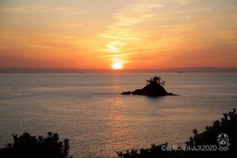 松島の夕日_鯨浜_2020-03-12_17-50-49