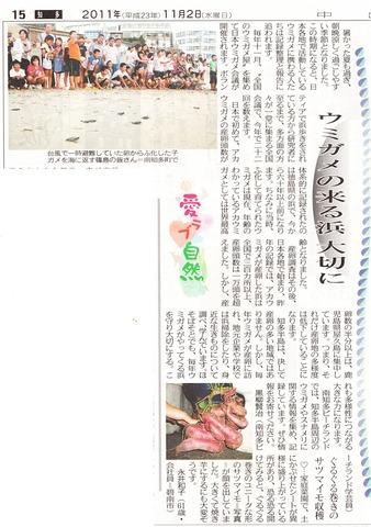 ウミガメ_篠島_前浜_中日新聞_2011-11-03 23-57-05 (1)