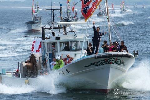 船団パレード_祗園野島祭り_2012-07-15 09-59-42